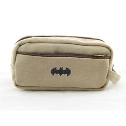 "Yoofun Batman Symbol Canvas Pencil Case 2.3""x4""x7"""