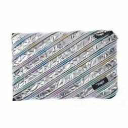 Zipit Continuous Zip Binder Pencil Case - Silver Rainbow