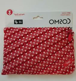 Zipit Cosmo Jumbo Pouch, Pencil Case, Red with White Polka D