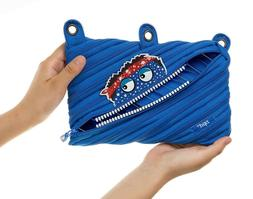 ZIPIT Talking Monstar 3-Ring Pencil Case, Blue