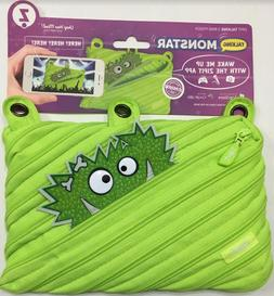 ZIPIT Talking Monstar 3-Ring Pencil Pouch, Lime
