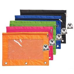 Zippered Binder Pencil Pouch with Zipper Pulls, Pencil Case