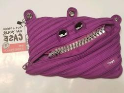 zipsters grillz pencil case purple zipper pouch